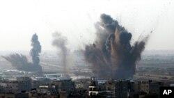 غزه پس از بمباران اسراییل، دوشنبه ۱۹ نوامبر ۲۰۱۲
