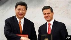 멕시코를 방문 중인 시진핑 중국 국가주석이 4일 멕시코시티에서 엔리케 페냐 니에토 멕시코 대통령과 정상회담을 가졌다.