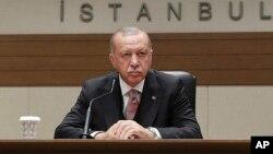 Президент Турции Реджеп Тайип Эрдоган (архивное фото)