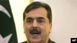 Prime Minister Yousuf Raza Gilani (file)