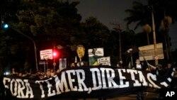 Manifestação no Brasil contra o Presidente Michel Temer, 28 de Abril 2017