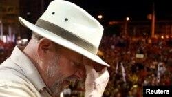 Former Brazilian President Luiz Inacio Lula da Silva attends a rally in Sao Leopoldo, Rio Grande do Sul state, Brazil, March 23, 2018.