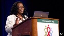 Chewe Luo, penasehat senior HIV/AIDS dari UNICEF, berpidato dalam Konferensi Internasional AIDS ke-19 di Washington DC (25/7).
