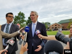 Senator Rob Portman, Republican of Ohio, blames the North Korean regime for the death of Otto Warmbier, who was held captive in North Korea for more than a year and died after returning home in a coma last week. (Photo: Ham Jiha / VOA Korean Service)