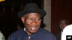 Goodluck Jonathan, ancien président Nigérian dont le porte-parole du parti est accusé de détournement
