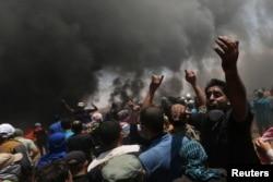یروشلم میں امریکی سفارت خانے کی منتقلی کے خلاف فلسطینیوں کا مظاہرہ اور ان کے خلاف طاقت کا استعمال۔ 14 مئی 2018