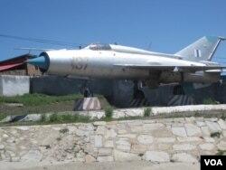 蒙古乌兰巴托军事博物馆中展出的苏式战机。
