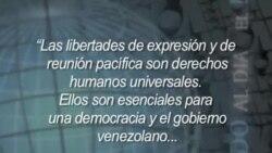 Presidente Obama condena lo que sucede en Venezuela