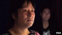 吴立红的妻子许洁华(美国之音国符拍摄)