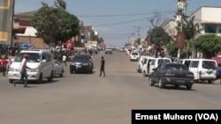 La circulation fluide sur l'artère principale de la ville de Bukavu, en RDC, le 11 février 2018. (VOA/Ernest Muhero)