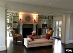 Interior of one of Chryssa Wolfe's homes in Washington, D.C., 2014. (Julie Taboh/VOA)