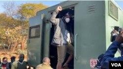 Hopewell Chin'ono on his way to Chikurubi Maximum Prison