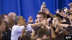 Президент Обама на встрече со студентами в штате Вирджиния