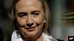 ທ່ານນາງ Hillary Clinton ອະດີດລັດຖະມົນຕີການຕ່າງປະເທດສະຫະລັດ.