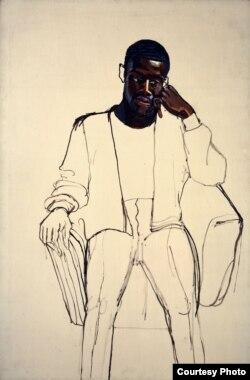 James Hunter Black Draftee by Alice Neel is part of the Met Breuer Unfinished exhibit. (Photo courtesy of The Met Breuer)
