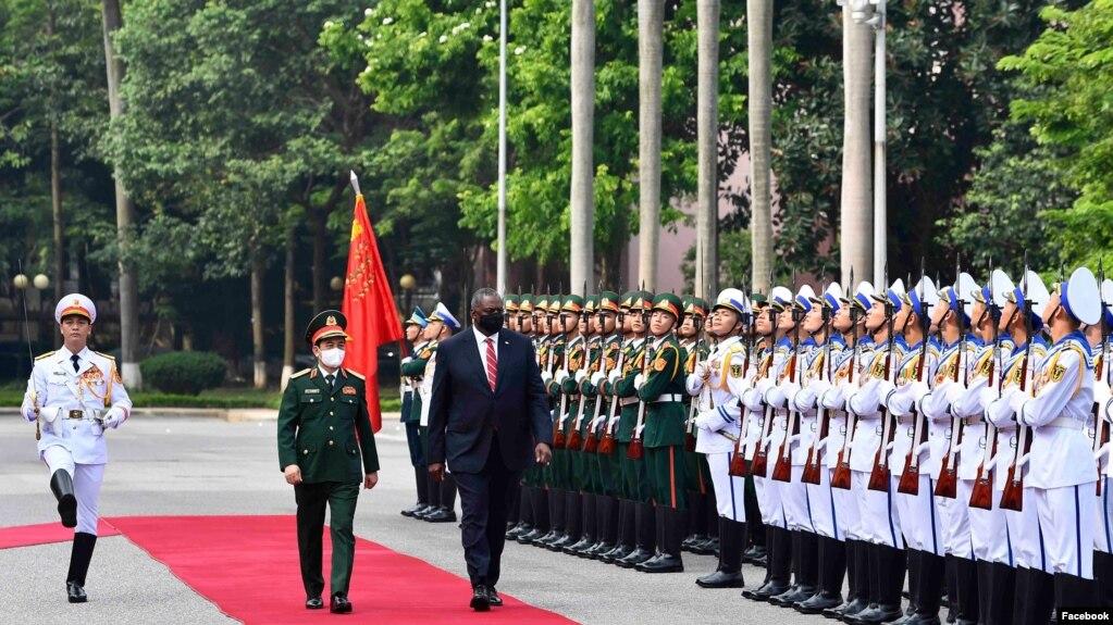 Bộ Trưởng Lloyd Austin tại Hà Nội, 29 tháng Bảy, 2021. Photo US Embassy Hanoi.