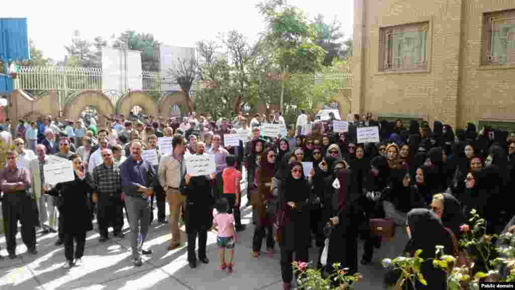 تجمع سکوت معلمان ایرانی - کرمانشاه