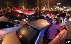 Liesse populaire au Caire