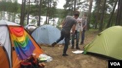 Палаточный городок молодежного лагеря «Территория свободы»