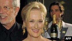 Мэрил Стрип с «Оскаром» за роль в фильме «Железная леди»