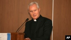FILE - An undated photo of Monsignor Nunzio Scarano in Salerno, Italy. ANSA said an appeals court in Rome, Feb. 13, 2019, convicted Scarano of corruption and sentenced him to three years in prison.