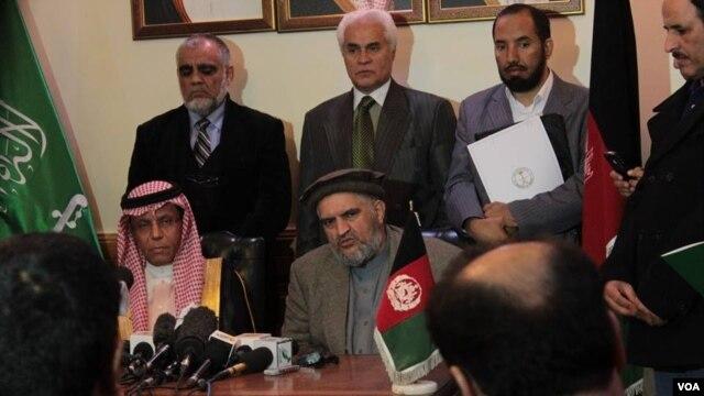 محفل امضای قرارداد در سفارت عربستان سعودی در کابل
