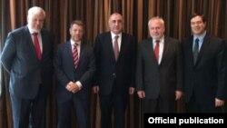 Elmar Məmmədyarov və Minsk qrupunun həmsədrləri