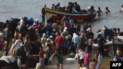 Des pêcheurs rentrent au port d'El Jadida, au sud de Casablanca, Maroc, le 20 aout 2014