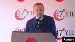 Turkiya Prezidenti Rajab Toyyib Erdog'an. Kipr, 20-iyul, 2021.