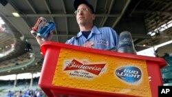 美國啤酒商送貨情形。