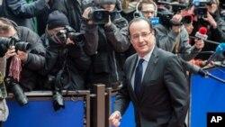 7일 유럽연합 예산 논의를 위한 정상회의에 참석한 프랑수아 올랑드 프랑스 대통령.