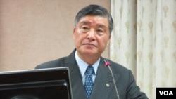 台湾国防部长 高华柱(美国之音张永泰拍摄)