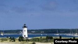 The Edgartown lighthouse in Martha's Vineyard, Massachusetts.