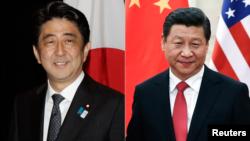 日本首相安倍晋三和中国国家主席习近平(资料照片)