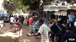 Des replacés à Boy-Rabe, Bangui