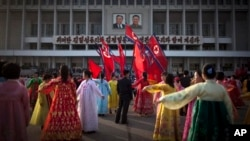 КНДР, Пхеньян, 15 апреля 2013г.