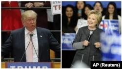 هیلاری کلینتون و دونالد ترامپ در انتخابات درون حزبی دموکرات ها و جمهوریخواهان پیشتاز هستند.
