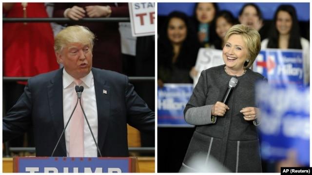 Ứng cử viên tổng thống của đảng Dân chủ Hillary Clinton và ứng cử viên tổng thống của đảng Cộng hòa Donald Trump.