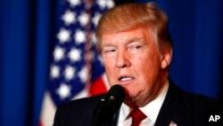 Donald Trump le 6 avril 2017.