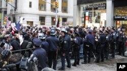 مظاهره کنندگان در شهر نیوبارک