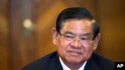 FILE - Cambodian Interior Minister Sar Kheng.