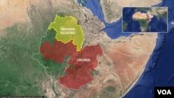 Oromia and Amhara regions of Ethiopia