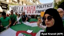 Etudiants manifestant à Alger le 11 juin 2019.