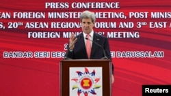 Джон Керри на пресс-конференции на форуме АСЕАН. 1 июля 2013 г.