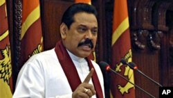 سری لنکا کے صدر راجاپاکسے