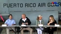 Maria Kasırgası Sonrasında Trump Porto Riko'da