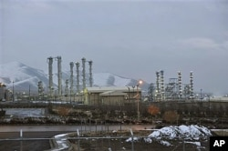 FILE - Iran's heavy water nuclear facilities are seen near the central city of Arak, 150 miles (250 kilometers) southwest of Tehran, Jan. 15, 2011.