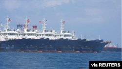 남중국해에 집결한 중국 선단