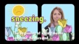 English in a Minute: Nothing to Sneeze At