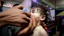 2018-04-10 美國之音視頻新聞: 川普總統考慮如何會議敘利亞疑似化武攻擊